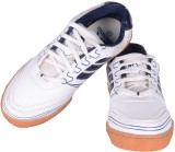 Davico Court Badminton Shoes (White, Nav...