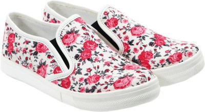Heels And Toes Canvas Shoes, Casuals, Outdoors, Sneakers, Mocassin, Loafers(Red)