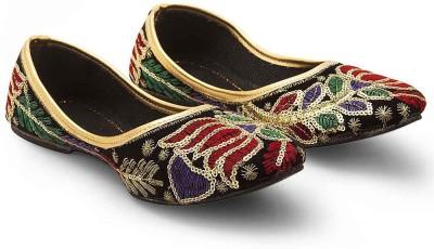 Little India Women Sequins Work Multi Color Ballerina Sandals 313 Jutis