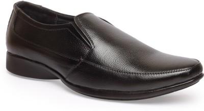 Leather King Carl Black Slip On