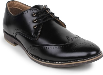 Styx STYX MENS BROGUE FORMAL Corporate Casual Shoes(Black)