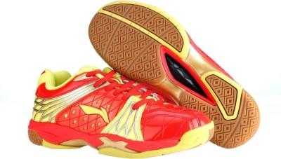 Li-Ning Titan Plus Badminton Shoes(Red, Gold)