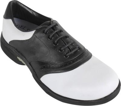 Vijayanti G001 White Black Golf Shoes