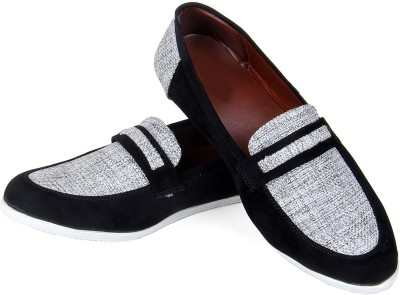 Goyal Black Jute Matching Loafers