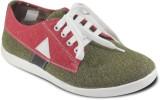 Donner Olive Red Canvas Shoes (Olive)