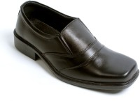 Dolphin Miles Derby Slip On Shoes(Black)