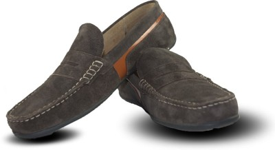 Blue Harpers Stylish Brown Suede Loafers