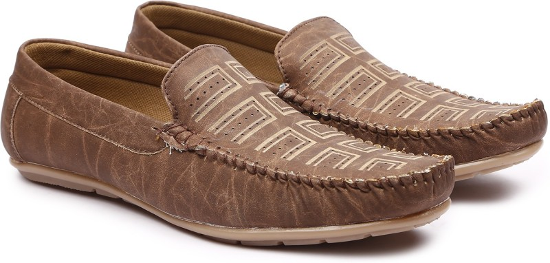 Andrew Scott Mens Brown Synthetic Loafers