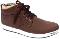 Vogue Guys Brown Ankle Sneakers