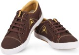 Unistar 5003-Brown Canvas Shoes (Brown)