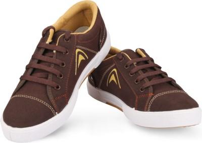 Unistar 5003-Brown Canvas Shoes