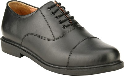 GAI Black Leather Formal Oxford Lace Up Shoes