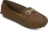 Kielz Khaki-Synthetic Leather-Ladies Loafers Loafers(Khaki)