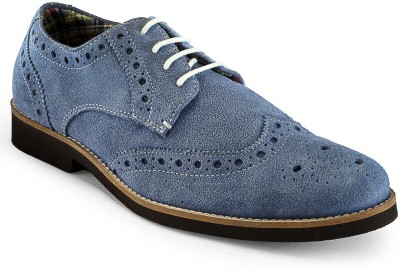 Hats Off Accessories Brogue Derby Light blue Corporate Casuals