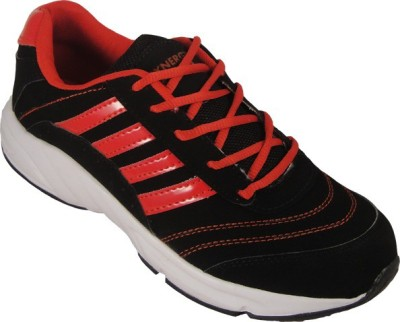 Action Synergy Black/Red PH001 Walking Shoes, Running Shoes