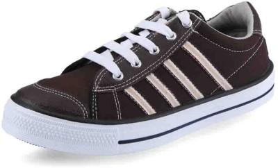 Unistar Gents Brown Canvas Shoes