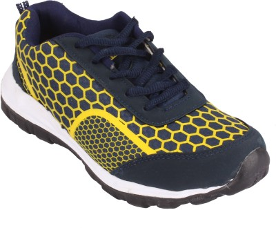 Jabra 7003 Yellow & N Blue Running Shoes