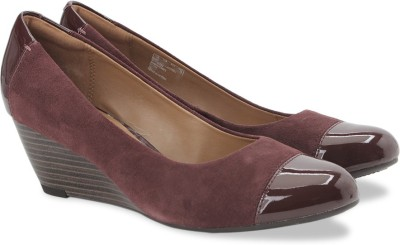 Clarks Brielle Chanel Burgundy Combi Slip On shoes(Maroon)