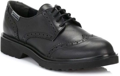 4ever young Womens Black Yale Leather Brogues Casual Shoes