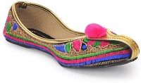 Paduki Ethnic Footwear Mojaris(Multicolor)