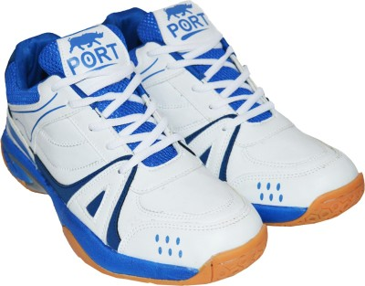 Port Activa Badminton Shoes(White)