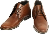 Ajanta Ankle Length Lace Up Shoes(Brown)
