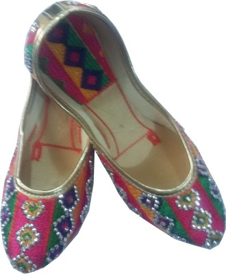 A Square Jodhpur Multicolor Designer Ethnic Juti/Bellies