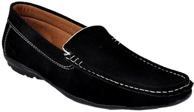 Raja Fashion Synthetic Black Loafers