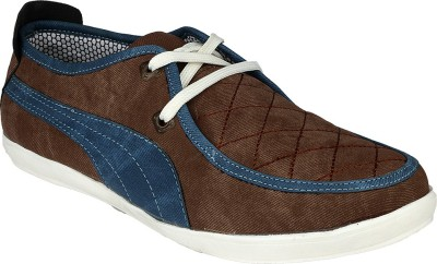 D61 2104 Brown/Blue Casual Shoes