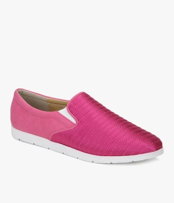 Addons Quilted satin Loafers(Pink)