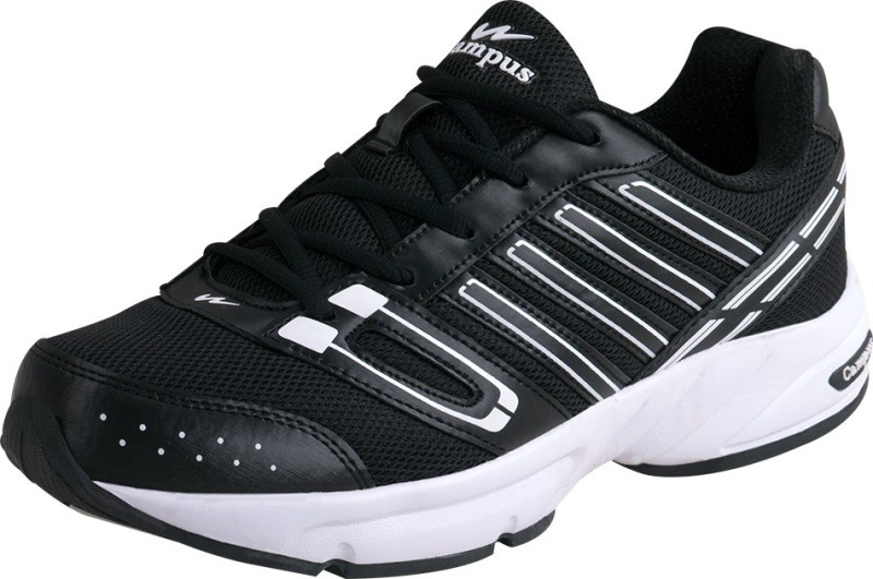Campus Running Shoes(Black, Whit...
