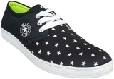 Hitmax STAR Blue Canvas Shoes (Black)