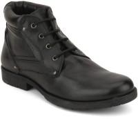 Arden Bones Side Panel Chukka Boots(Black)