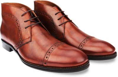 johnston&murphy Tyndall Cap Toe Chukka Lace Up Shoes