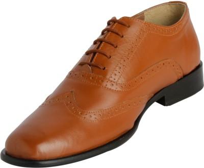 Claude Lorrain TanParty Wear Brogue Lace Up Shoes