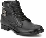 Mactree Genuine Leather Boots (Black)