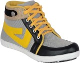 Marvelous Canvas Shoes (Grey, Yellow)