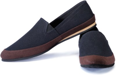 FUNK Moben Black and Brown Loafers