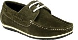 GAI Olive Leather Loafers (Olive)