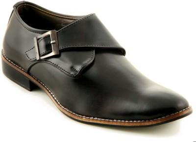 Devee Arabian Style Erion Black Monk Strap Shoes