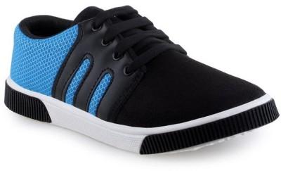 Super Matteress Black & Blue-347 Canvas Shoes