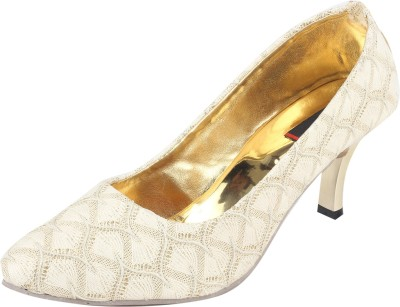 Swagg Skin Gold Elegant Party Heels Party Wear