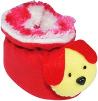 Ole Baby Furry Friend Kuku Booties(Toe to Heel Length - 11 cm Red, Yellow Pack of 1)