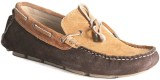 Marrtin Driving Boat Shoes (Tan, Brown)