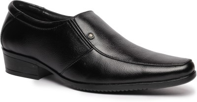 Feather Leather Genuine Leather Black Formal Shoes 034 Slip On Shoes