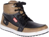 Jokatoo Cool & Stylish Sneakers (Tan, Bl...