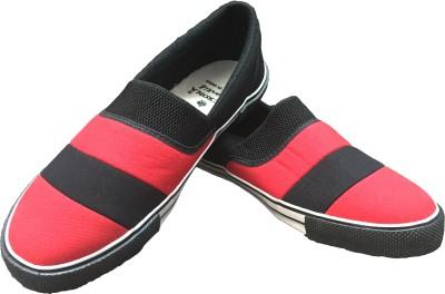 Rexona Kicker-023-Black-Red Casual Shoes