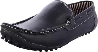 Lee Grain Black Loafers