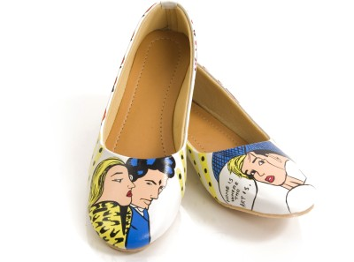 Al Artz Hand Painted Shoes Funky Casual Ballerina