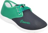 Aqualite Canvas Shoes (White, Green)
